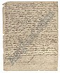 GOETHE, Johann Wolfgang von (1749-1832). Autograph letter signed ('G') to an unidentified recipient [his friend the writer Johann Heinrich Merck], Bern, 17 October [1779],  2 pages, 4to  (light browning, minor fraying to edges)., Johann Wolfgang Goethe, Click for value