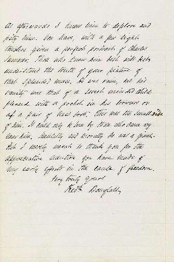 DOUGLASS, Frederick (1817-1895). Autograph letter signed (