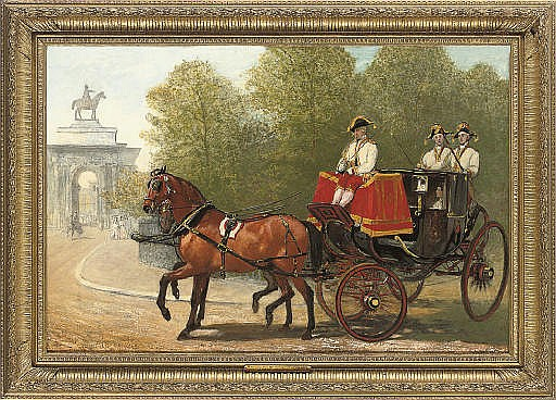 Returning from Her Majesty's drawing-room, Hyde Park Corner