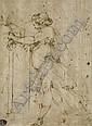 Femme drapée, vue de profil vers la gauche (recto); Etude subsidiaire d'un bras drapé (verso), Giulio Benso, Click for value