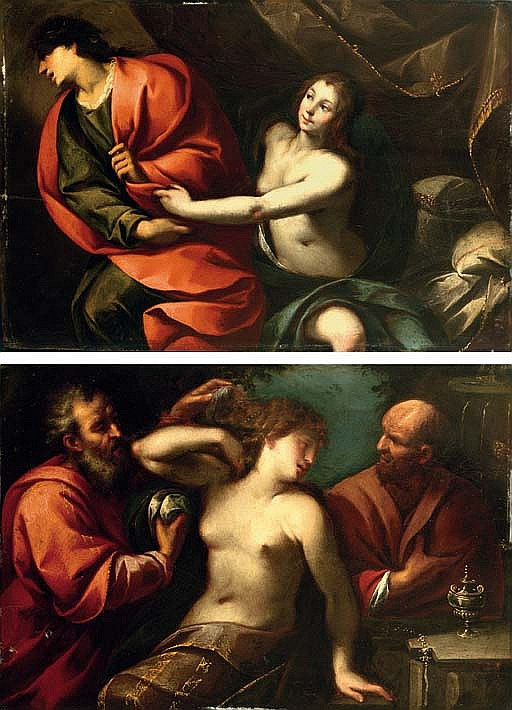 Joseph and Potiphar's wife; and Susanna and the Elders