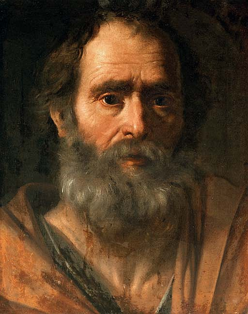 Portrait of a bearded man as an Apostle (Saint Peter?)