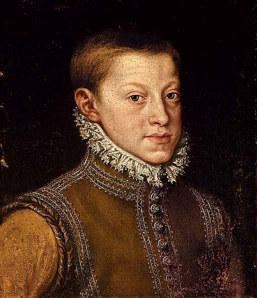 Portrait of Archduke Rudolph II, Holy Roman Emperor, as a boy, bust-length