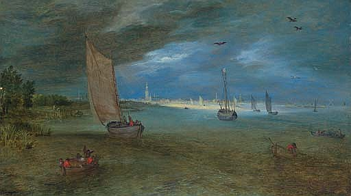 A view of the Scheldt with Antwerp beyond