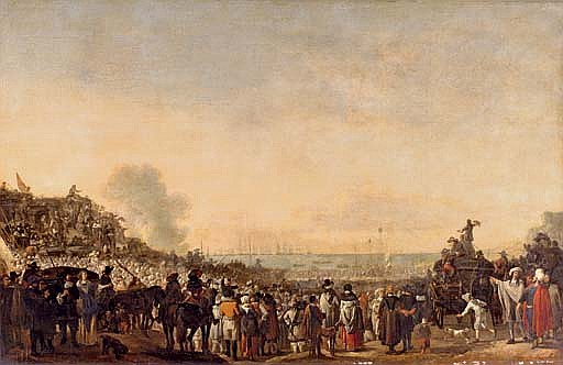 The departure of Charles II for England