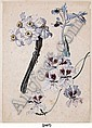 Bouquet de narcisses, six iris rouges et un iris bleu, Sebastian Wegmayr, Click for value