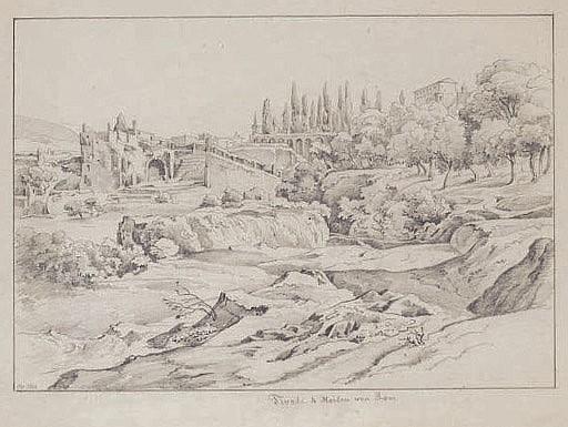 Les jardins de Tivoli ( recto ); Etude d'arbres ( verso )