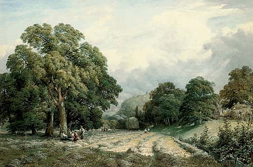 Haymaking in Lewes, Sussex