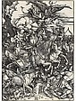 The Four Horsemen, from The Apocalypse (B. 64; M., Holl. 167; S.M.S. 115), Albrecht Durer, Click for value