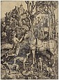 Saint Eustace (B. 57; M., Holl. 60; S.M.S. 32), Albrecht Durer, Click for value