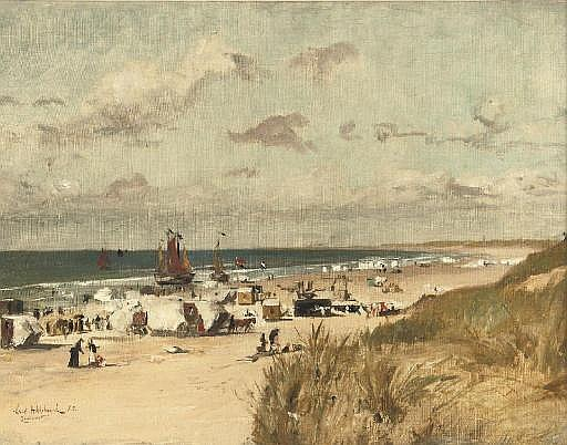 A sunny day on the beach of Zandvoort