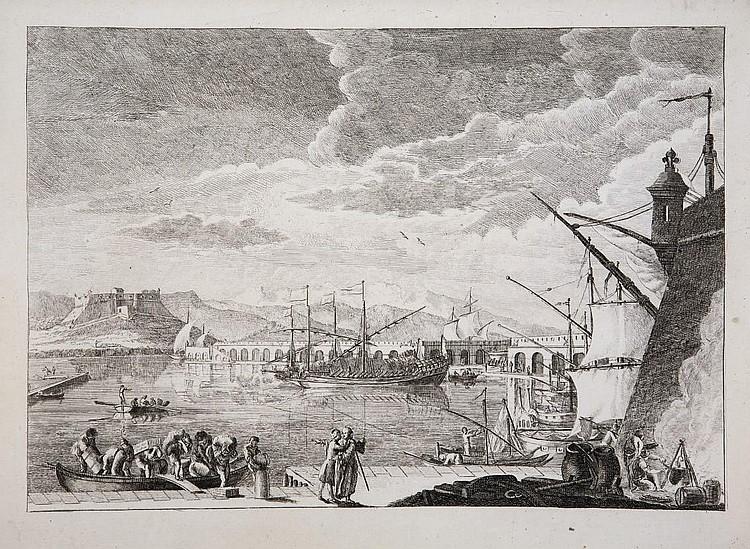 MARCENAY DE GHUY, Antoine de (1724-1811). Collection de 36 gravures différentes et présentées en 57 épreuves, la plupart avant la lettre. [Paris: d'Houry, vers 1744.]