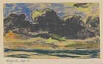 Emil Nolde (1867-1956)  Landschaft  pastel on paper laid down on the artist