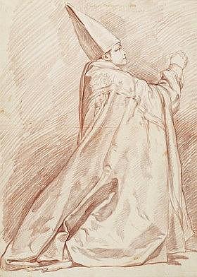 RENÉ-MICHEL SLODTZ, DIT MICHEL-ANGE SLODTZ (PARIS 1705-1764)  - Évêque à genoux priant
