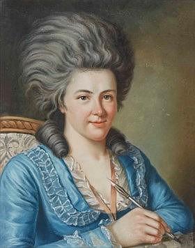 JOHANN FRIEDRICH DRYANDER (SAINT-JEAN-LÈS-SARREBRUCK 1756-1812)  - Portrait de Charlotte Louise Ernestine von Oetinger, née von...