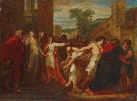 JACQUES RÉATTU (ARLES 1760-1833)  - Daniel faisant arrêter les deux vieillard accusateurs de la chaste...