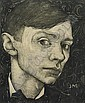 Self portrait, Jan Mankes, Click for value