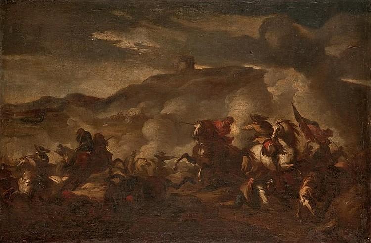 ATTRIBUE A JACQUES COURTOIS, DIT LE BOURGUIGNON (SAINT-HYPPOLITE 1621-1676 ROME)
