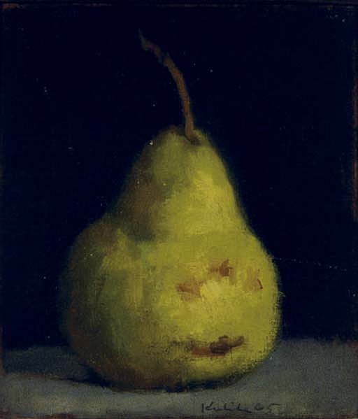 Pear with light background: and a companion painting