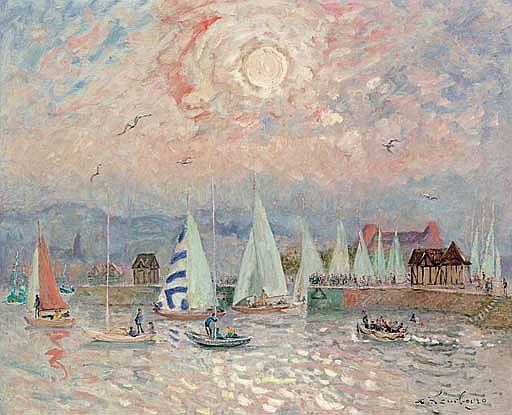 La sortie des voiliers (Deauville)