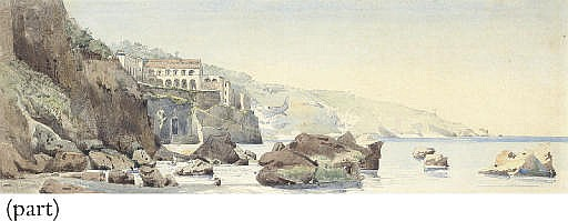 View on the coast of the Bay of Naples