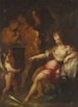 Hans von Aachen (Cologne 1552-1615 Prague) - Venus and Cupid in Vulcan's forge