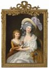 Studio of Marie-Victoire Lemoine (Paris 1754-1820) - Double portrait of Marie-Thérèse of France (1778-1815), Duchesse d'Angoulême,...