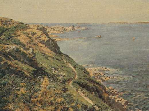 FERDINAND JOSEPH GUELDRY (FRENCH, B. 1858) The Way of the Coastguards