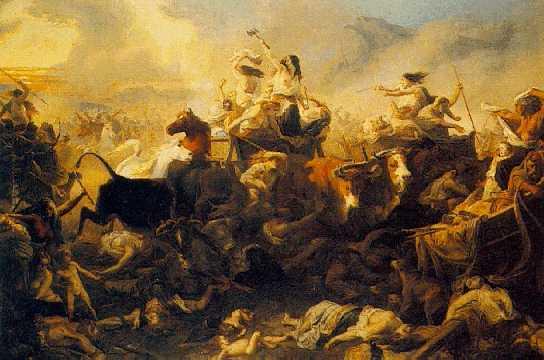 HENRI FELIX EMANUEL PHILIPPOTEAUX (FRENCH, 1815-1884) Invasion des Gaules