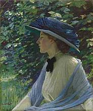 HAROLD KNIGHT, R.A. (1874-1961) Portrait of Florence signed 'Haro
