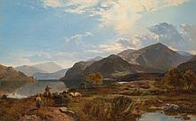 Sidney Richard Percy (1821-1886) A Bright Day at Ullswater oil on canvas 33 7/8 x 54 3/5 in. (86 x 139.1 cm.)
