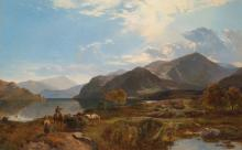 SIDNEY RICHARD PERCY (BRITISH, 1821-1886) - A Bright Day at Ullswater
