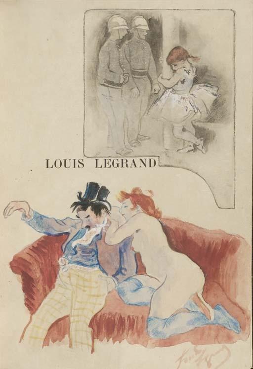 RODRIGUES, Eugene. <I>Louis Legrand: Peintre Graveur, catalogue de son oeuvre gravé et</I>