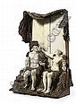 A CARVED IVORY AND WALNUT GROUP DEPICTING HERCULES AND DEIANIRA , Simon Troger, Click for value
