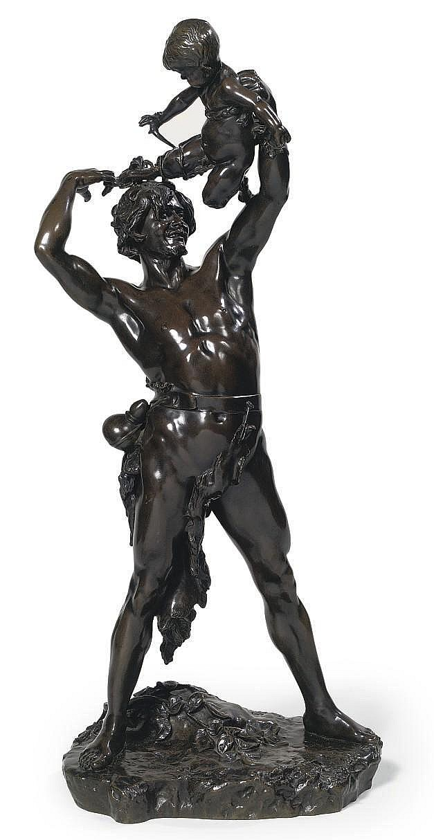 A FRENCH BRONZE GROUP ENTITLED 'BERGER ET SYLVAIN'