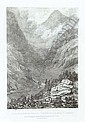 COCKBURN, James Pattison (?1779-1847). Views to Illustrate the Route of the Simplon . London: Rodwell and Martin, 1822. 2° (460 x 315mm). 49 lithographed plates by J. Harding after J. P. Pattison only (of 50, lacking plate XXVI, mainly marginal, James Pattison Cockburn, Click for value