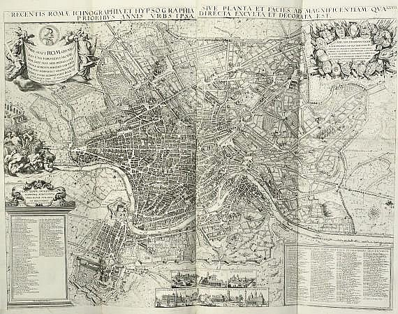 SANDRART, Joachim von (1606-88). Romae antiquae et novae theatrum. Sive genuina ac vera urbis, juxta varios ejusdem status, delineatio topographica. Nuremberg: