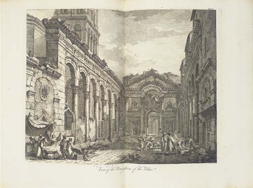 ADAM, Robert (1728-1792). Ruins of the Palace of the Emperor Diocletian at Spalatro in