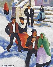 Tiroler Paare im Schnee