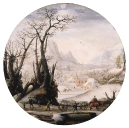 Jacob Grimmer (Antwerp 1525/6-1590) The Month of December