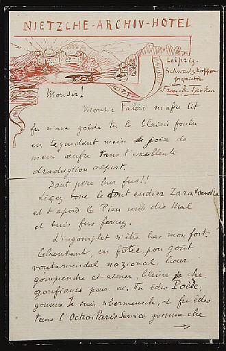 VALÉRY, Paul (1871-1945). Lettre autographe signée