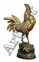 A FRENCH PATINATED AND GILT-BRONZE FIGURE OF A ROOSTER,                                        , Paul (1818) Comoléra, Click for value