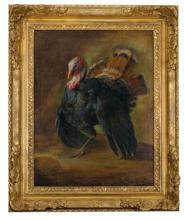 GIORGIO DURANTI (BRESCIA 1683 - 1768) - Deux dindons