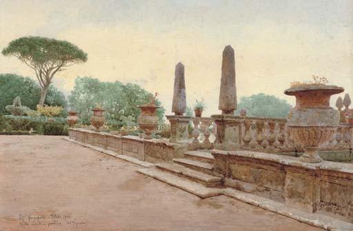 The terrace, Villa Lante