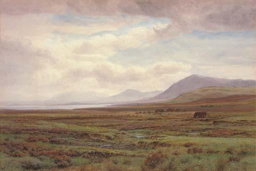 On the moors, Achill Island, Co. Mayo, Ireland