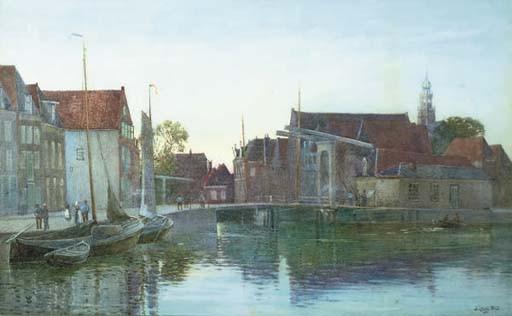 Evening by a Dutch canal