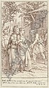 Antiphile prise de faiblesse en voyant apparaître Clinis s'appuie sur Bacchis, Charles-Nicolas Cochin, Click for value