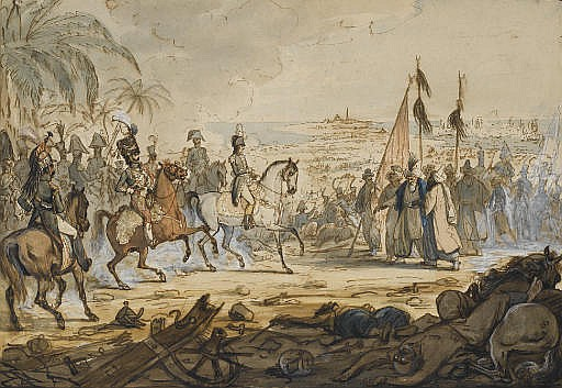 Napoléon 1er à la Bataille d'Aboukir