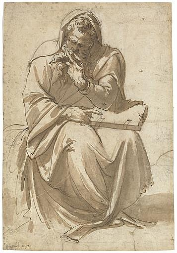 A seated evangelist