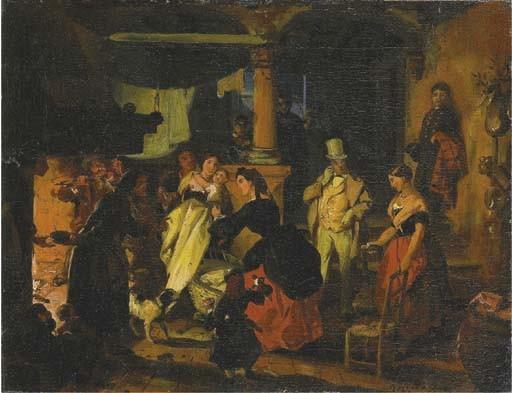 Attribuito a Angelo Inganni (Italia 1807-1880)